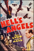 "Movie Posters:War, Hell's Angels (Astor, R-1940s). Trimmed One Sheet (25"" X 38"").War.. ..."