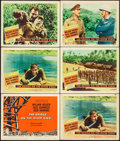"Movie Posters:War, The Bridge on the River Kwai (Columbia, 1958). Title Lobby Card& Lobby Cards (5) (11"" X 14""). War.. ... (Total: 6 Items)"