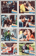"Movie Posters:Crime, Spin a Dark Web (Columbia, 1956). Lobby Card Set of 8 (11"" X 14"").Crime.. ... (Total: 8 Items)"