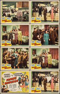 "Private Buckaroo (Universal, 1942). Lobby Card Set of 8 (11"" X 14""). Musical. ... (Total: 8 Items)"
