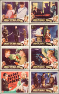 "Movie Posters:War, Under Secret Orders (Guaranteed Pictures, 1943). Lobby Card Set of8 (11"" X 14""). War.. ... (Total: 8 Items)"
