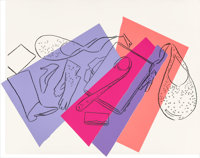 Andy Warhol (1928-1987) Halston Advertising Campaign: Women's Accessories, 1982 Screenprint and colo