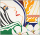 Tom Wesselmann (1931-2004) Bedroom face with orange wallpaper, 1987 Screenprint in colors on Museum Board 46-3/4 x 52