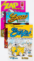 Zap Comix Group of 4 (Apex Novelties, 1970s) Condition: Average FN/VF.... (Total: 4 Comic Books)