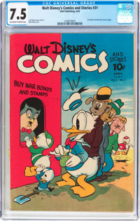 Walt Disney's Comics and Stories #31 (Dell, 1943) CGC VF- 7.5 Off-white to white pages