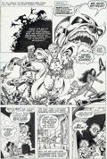 Original Comic Art:Panel Pages, Jim Starlin and Steve Leialoha Warlock #10 Story Page 4Thanos and Gamora Original Art (Marvel, 1975)....