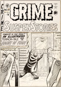 Original Comic Art:Covers, Johnny Craig Crime SuspenStories #8 Cover Original Art (EC,1952)....
