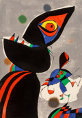 Prints:Contemporary, Joan Miró (1893-1983). Gaudí XVII, 1979. Etching in colorson wove paper. 25-1/2 x 34-3/4 inches (64.8 x 88.3 cm) (sheet...