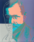 Prints:Contemporary, Andy Warhol (1928-1987). Sigmund Freud, from TenPortraits of Jews of the Twentieth Century, 1980. Screenprintin co...