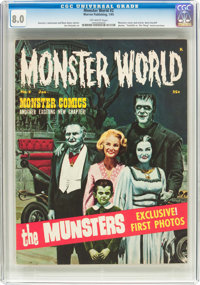 Monster World #2 (Warren, 1965) CGC VF 8.0 Off-white pages