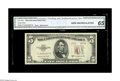 Error Notes:Obstruction Errors, Fr. 1534 $5 1953-B Legal Tender. CGA Gem Uncirculated 65. Errors onany Legal Tender Note are quite scarce, making this virt...