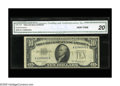 Error Notes:Obstruction Errors, Fr. 1707 $10 1953A Silver Certificate. CGA Very Fine 20.. This blueseal has suffered from an obstruction which has left thi...