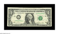 Error Notes:Major Errors, Fr. 1911-J $1 1981 Federal Reserve Note. Extremely Fine-AboutUncirculated. Here is an excellent example of the very scarce ...
