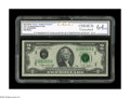 Error Notes:Major Errors, Fr. 1935-D $2 1976 Federal Reserve Note. CGC Choice Uncirculated 64. A lovely example of this very rare double printing, whi...
