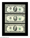 Error Notes:Major Errors, Fr. 2022-E/2071-E $10 & $20 1974 Federal Reserve Notes. ChoiceCrisp Uncirculated. This interesting assemblage first made he...
