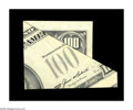 Error Notes:Major Errors, Fr. 2171-? $100 1985 Federal Reserve Note. Crisp Uncirculated. Thisis an approximate 2 inch by 3 inch printed fragment that...