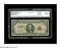 Small Size:Legal Tender Notes, Fr. 1550 $100 1966 Specimen Legal Tender Note. CGC Very Fine 35.. Bold red vertical stamps on both sides of Franklin and at ...