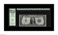 Small Size:Silver Certificates, Fr. 1606* $1 1934 Silver Star Certificate. PCGS Choice New 63.. This replacement note has crisp white paper and vibrant over...