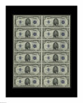 Small Size:Silver Certificates, Fr. 1654 $5 1934D Silver Certificates. Uncut Sheet of 12. Gem Crisp Uncirculated.. This sheet is quite special in that it be...