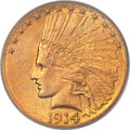 Indian Eagles, 1914-S $10 MS64 PCGS....