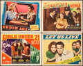 """Movie Posters:Bad Girl, Girls Under 21 & Others Lot (Columbia, 1940). Title Lobby Card& Lobby Cards (3) (11"""" X 14""""). Bad Girl.. ... (Total: 4 Items)"""