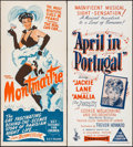 "Movie Posters:Documentary, Montmartre Nocturne & Others Lot (BEF, 1954). Australian Daybill (3) (Approx. 13.5"" X 30""). Documentary.. ... (Total: 3 Items)"