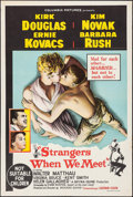 "Movie Posters:Drama, Strangers When We Meet (Columbia, 1960). Australian One Sheet (27""X 40""). Drama.. ..."