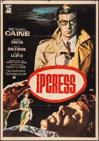 "The Ipcress File (Ghamartin, 1965). Spanish One Sheet (27.5"" X 39.25""). Thriller"