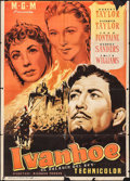 "Movie Posters:Adventure, Ivanhoe (MGM, 1952). Trimmed Spanish One Sheet (27"" X 38.5"").Adventure.. ..."