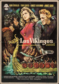 "Movie Posters:Action, The Vikings (United Artists, 1960). Spanish One Sheet (27.25"" X39.25""). Action.. ..."