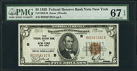 Fr. 1850-B $5 1929 Federal Reserve Bank Note. PMG Superb Gem Unc 67 EPQ