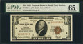 Fr. 1860-A $10 1929 Federal Reserve Bank Note. PMG Gem Uncirculated 65 EPQ