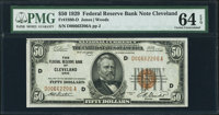 Fr. 1880-D $50 1929 Federal Reserve Bank Note. PMG Choice Uncirculated 64 EPQ