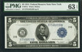 Large Size:Federal Reserve Notes, Fr. 851c $5 1914 Federal Reserve Note PMG Choice Uncirculated 63 EPQ.. ...