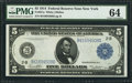 Large Size:Federal Reserve Notes, Fr. 851a $5 1914 Federal Reserve Note PMG Choice Uncirculated 64.. ...