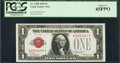 Low Serial Number A00001204A Fr. 1500 $1 1928 Legal Tender Note. PCGS Gem New 65PPQ