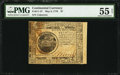 Colonial Notes:Continental Congress Issues, Continental Currency May 9, 1776 $7 PMG About Uncirculated 55 Net.....