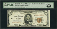Fr. 1850-H $5 1929 Federal Reserve Bank Note. PMG Very Fine 25