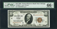 Fr. 1860-G $10 1929 Federal Reserve Bank Note. PMG Gem Uncirculated 66 EPQ
