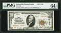 National Bank Notes:Pennsylvania, 14000 Charter Number Sykesville, PA - $10 1929 Ty. 2 First NB Ch. #14169. ...