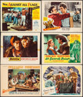 "Movie Posters:Adventure, The Buccaneer & Others Lot (Paramount, 1938). Lobby Cards (6)(11"" X 14""). Adventure.. ... (Total: 6 Items)"