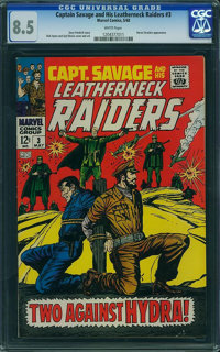 Captain Savage and His Leatherneck Raiders #3 - WESTPORT COLLECTION (Marvel, 1968) CGC VF+ 8.5 White pages