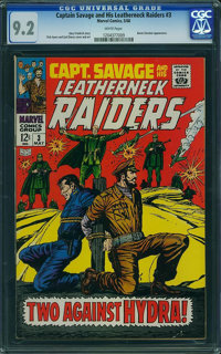 Captain Savage and His Leatherneck Raiders #3 - WESTPORT COLLECTION (Marvel, 1968) CGC NM- 9.2 White pages