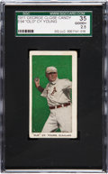 """Baseball Cards:Singles (Pre-1930), 1911 E94 Close Candy """"Old"""" Cy Young (Green) SGC 35 Good+ 2.5. ..."""