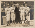 Baseball Collectibles:Photos, 1943 Brooklyn Dodgers Signed Large Photograph with Medwick....