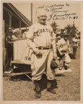 Baseball Collectibles:Photos, 1947 Honus Wagner Signed Photograph, PSA/DNA Mint 9....