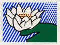 Prints, Roy Lichtenstein (1923-1997). Water Lily, 1993. Screenprint in colors on Lana Royal paper. 12-1/2 x 17 inches (31.8 x 43...