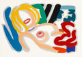 Prints:Contemporary, Tom Wesselmann (1931-2004). Big Blonde with Choker, 1992.Screenprint in colors on Museum Board. 41-1/2 x 62 inches (105...