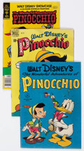 Golden Age (1938-1955):Cartoon Character, Four Color Plus Pinocchio Related Group of 4 (Dell, 1950s)....(Total: 4 Comic Books)