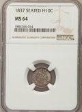1837 H10C No Stars, Large Date (Curl Top 1) MS64 NGC. NGC Census: (238/199). PCGS Population: (161/104). CDN: $850 Whsle...